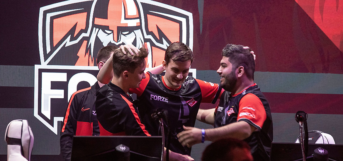 Forze celebrate their win